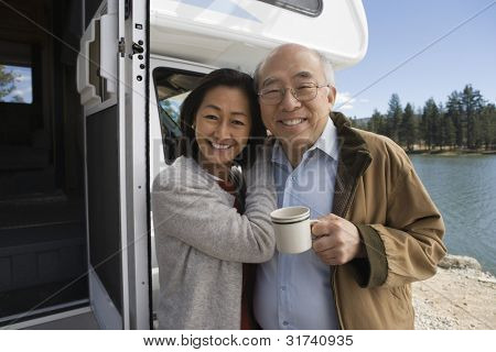 Senior Couple on Road Trip