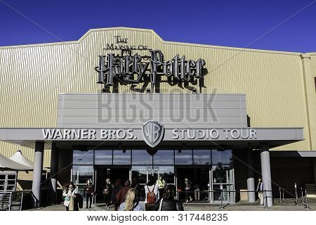 United Kingdom, England, London, Leavesden - 2016 October 05 : The Main Entrance To The Warner Broth