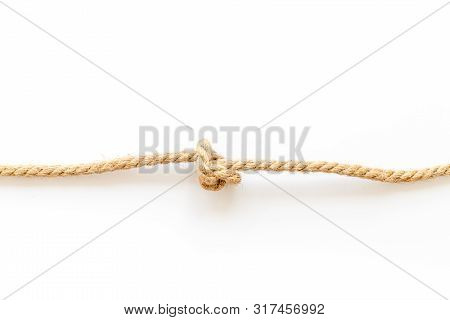 Isolated Rope Mockup On White Background Top View