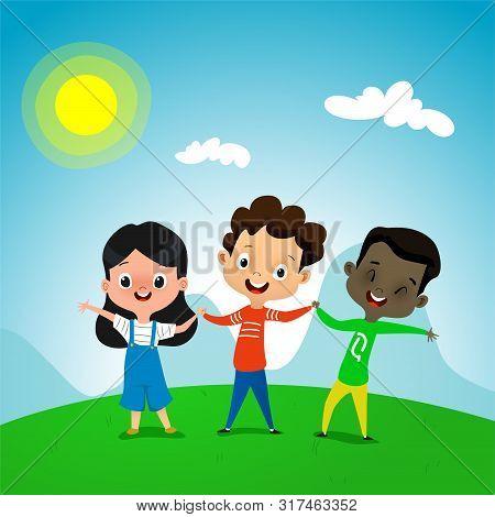 Cute Cartoon Kids Vector Photo Free Trial Bigstock