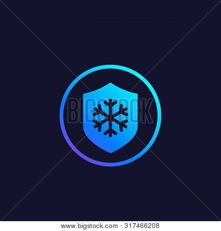Frost Resistance Icon, Eps 10 File, Easy To Edit