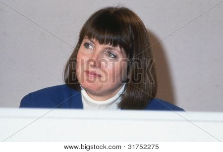 LONDON - DECEMBER 6: Harriet Harman, Labour party Member of Parliament for Peckham, attends a press conference on December 6, 1990 in London. In June 2007 she became Labour party Deputy Leader.