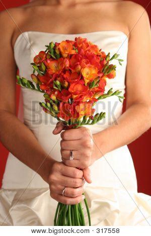 Bride With Flower Bouquet