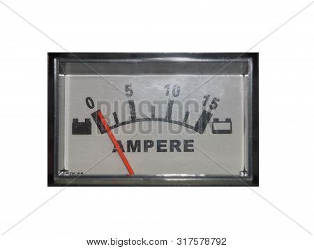 ammeter, measuring electrical appliance. ammeter measuring scale. poster
