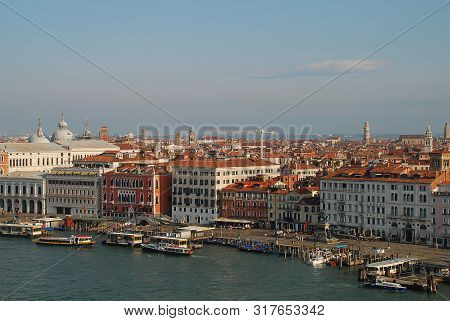 The Riva Degli Schiavoni, A Waterfront In Venice, Italy. The Riva Degli Schiavoni Commences Outside
