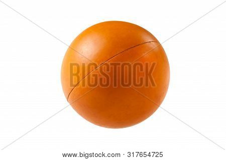 Ogange Ball For Dogs Isolated On White Background
