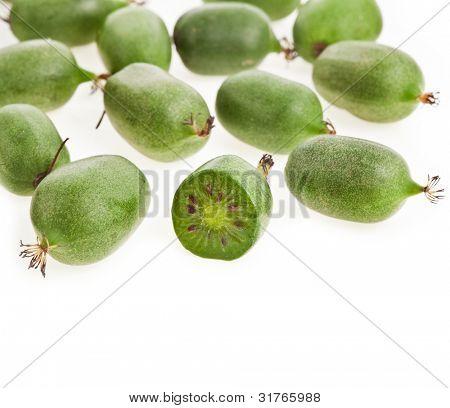 mini kiwi baby fruit (actinidia arguta) poster