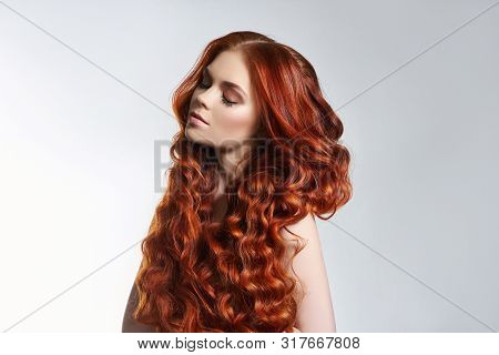 Creative Bright Coloring Of A Woman's Hair, Careful Care Of The Hair Roots. Bright Dye For Coloring,