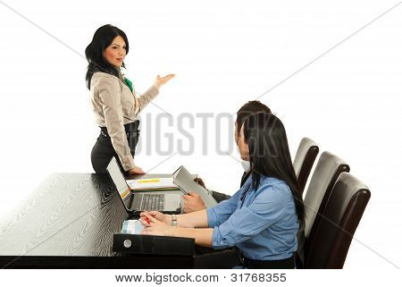 Business Woman Making Presentation