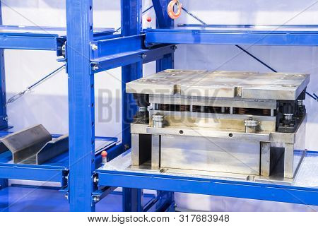Tooling Or Die For Metal Processing Keeping In Shelf ; Close Up