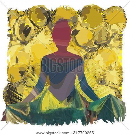 Yoga Painting. Background For International Yoga Day, Yoga, Religion, Health, Psychiatric, Etc.