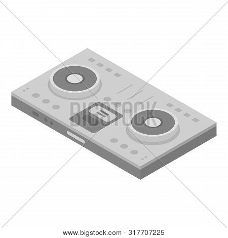Dj Concert Deck Icon. Isometric Of Dj Concert Deck Vector Icon For Web Design Isolated On White Back