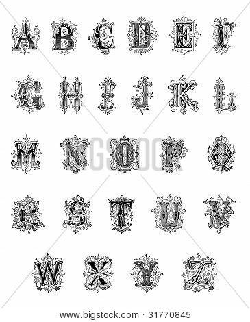 Antique Ornamental Alphabet (1889)