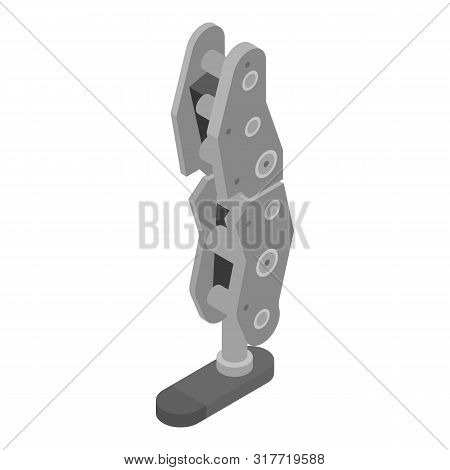 Robot Foot Limb Icon. Isometric Of Robot Foot Limb Vector Icon For Web Design Isolated On White Back