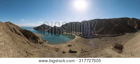 Landscape View Of Fjord Bay, Red Sea, Taba, Sinai, Egypt