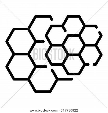 Honey Comb Icon. Outline Honey Comb Vector Icon For Web Design Isolated On White Background