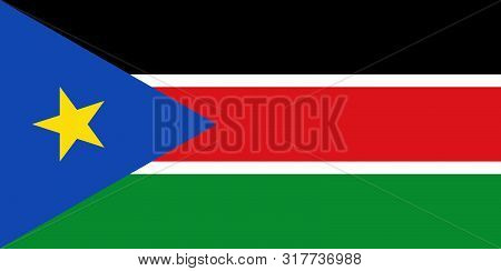 Flag Of South Sudan Vector Illustration Worlds Flags Collection