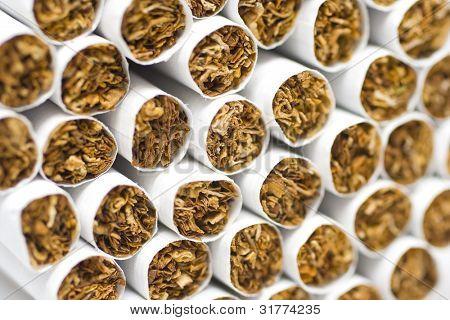 cigarets on white background