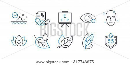 Set Of Healthcare Icons, Such As Health Skin, Leaf, Organic Tested, Skin Care, Vision Board, Leaf De