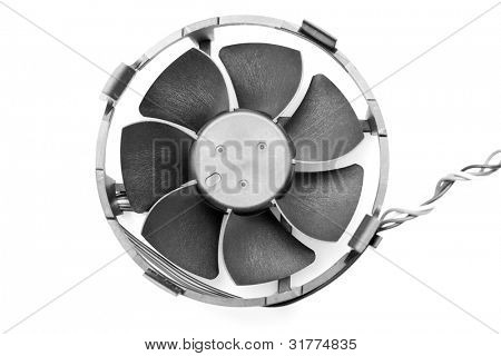 computer fan cooler closeup