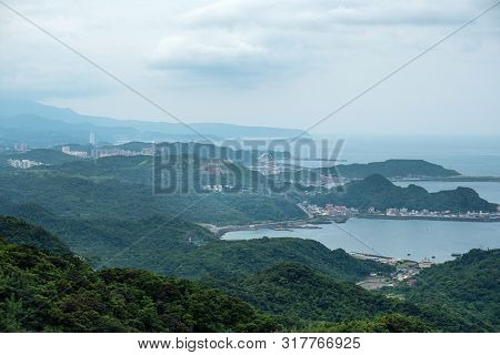 Landscape View From  Jiufen, Taipei, Taiwan. Travel