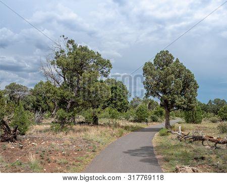 Scenic Paved Trail At Walnut Creek National Monument, Flagstaff, Arizona, Usa