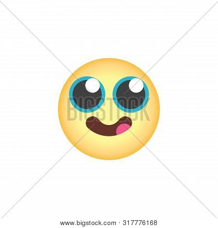 Face Savoring Food Emoticon Flat Icon, Vector Sign, Face With Tongue Emoji Colorful Pictogram Isolat