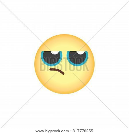 Annoyed Emoticon Flat Icon, Vector Sign, Annoyed Face Emoji Colorful Pictogram Isolated On White. Sy