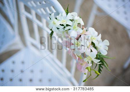 Wedding  Decorated Detail  On Beach