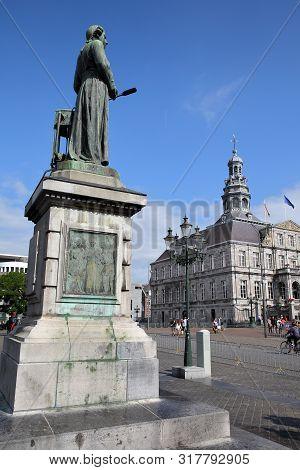 The Bronze Statue Of Jan Pieter Minckeleers, Designed By Bart Van Hove And Unveiled In 1904, Located