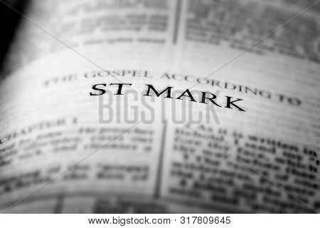 Bible New Testament Christian Teachings Gospel St Mark Saint