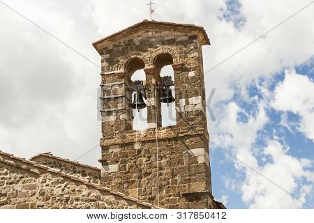 View On Montalcino In Toscany. City Of Wine.