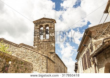 Old Town Of Montalcino In Toscany. City Of Wine.