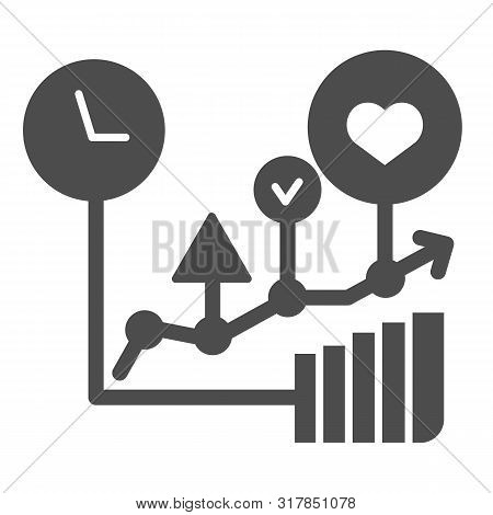 Commodity Turnover Solid Icon. Business Graph Vector Illustration Isolated On White. Trade Schedule