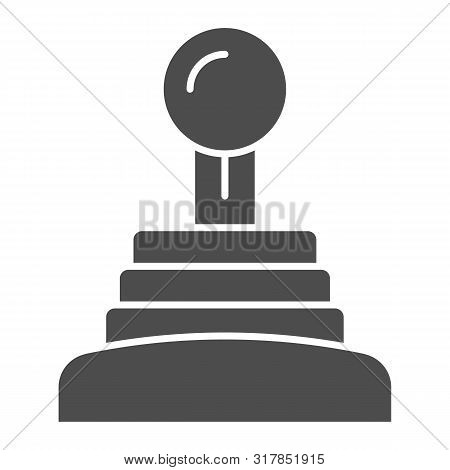 Gearbox Solid Icon. Speed Shifter Vector Illustration Isolated On White. Manual Gearbox Glyph Style