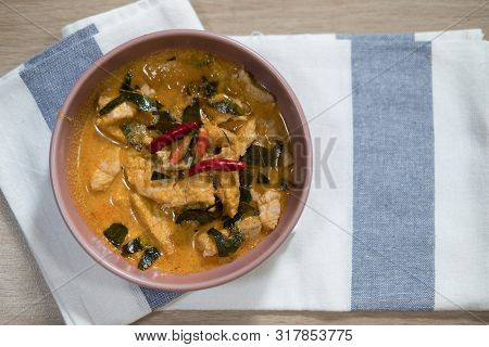 Panaeng Curry With Pork Or Red Curry With Pork (panang Pork), Thai Food