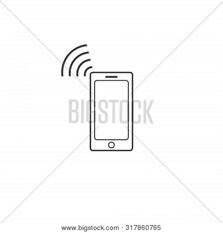 Nfc Mobile Pnone Icon. Near Field Communication Sign. Nfc Pay. Contactless Payment Logo. Nfc Icon Fo