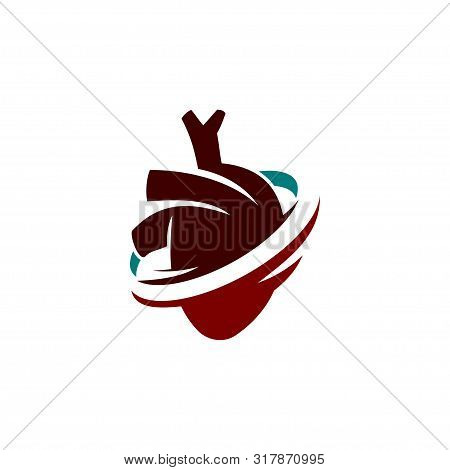 Heart Attack Risk Vector Logo Icon Design Illustration