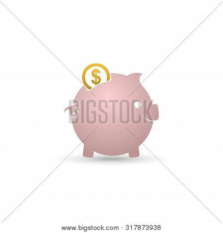 Piggy Bank Icon Isolated On White Background. Piggy Bank Financial Symbol, Piggy Bank Vector Icon Mo