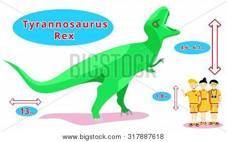 Dinosaurs Set.dino Collection.flat Cartoons Illustration. T-rex,tyrannosaurus,pterosaur,pterodactyl,