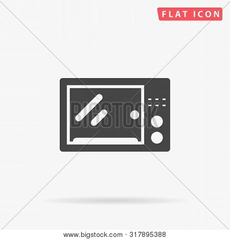 Microwave. Electric Oven. Flat Design Style Minimal Vector Illustration Icon For Web Design