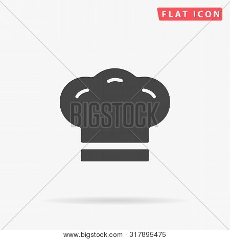 Chef Hat. Cooking Cap. Culinary. Flat Design Style Minimal Vector Illustration Icon For Web Design