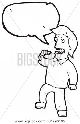egotistical man cartoon