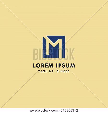 Logo Letter M Monogram, Concept Letter M Simple.