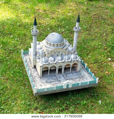 Moscow, Russia - 8 August, 2019: Model Of The Juma-jami Mosque (an Object Of Cultural Heritage Of Fe