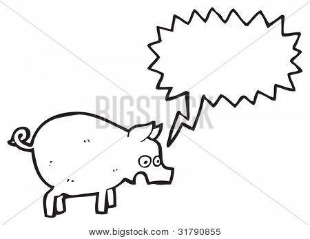 squealing pig cartoon