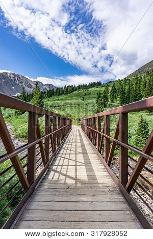 Stream Bridge At Beginning Of Gray's Peak Trailhead Colorado Fourteener