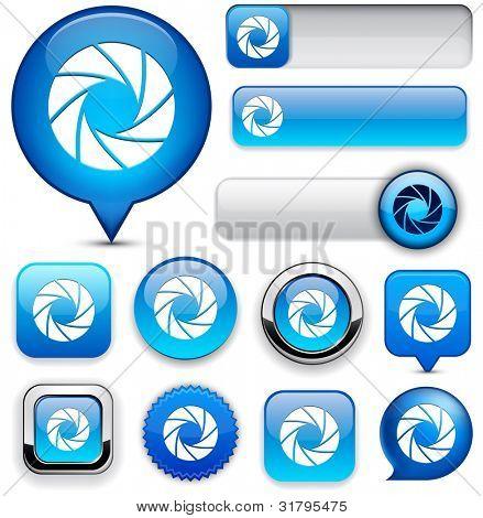 Blende blau Design-Elemente für die Website oder App-Vektor-eps10.