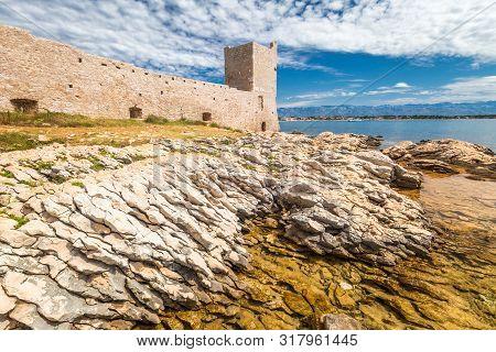 Kastelina Castle, Fortress Ruins On Vir Island, Croatia, Europe.