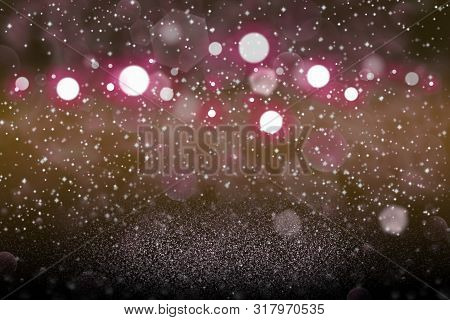 Cute Shiny Abstract Background Glitter Lights With Sparks Fly Defocused Bokeh - Festal Mockup Textur